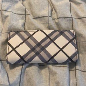 Apt 9 blue plaid wallet.